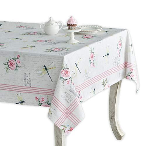 Maison d' Hermine Champ De Mars 100% Baumwolle Tischdecke für Küche | Abendessen | Tischplatte | Dekoration Parteien | Hochzeiten | Frühling/Sommer (Rechteck, 160 cm x 220 cm)