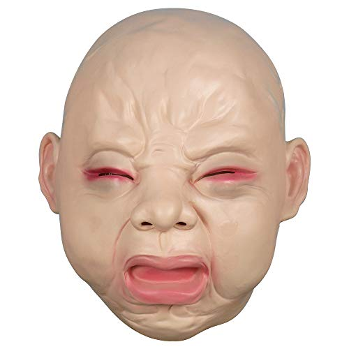CY TOYS Cry Baby Mask Latex Full Head Mask for Halloween Party Costume Decoration Prop Large