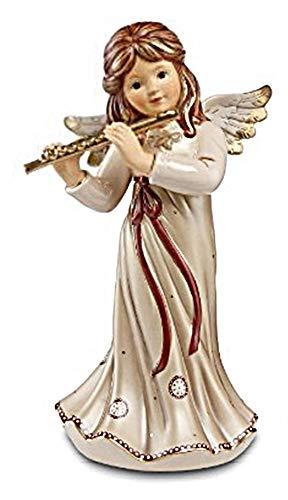 Goebel Engel zu Weihnachten, Engel Figur Weihnachtsengel Himmelsmusik Höhe: 32 cm Farbe Pearly Gleam