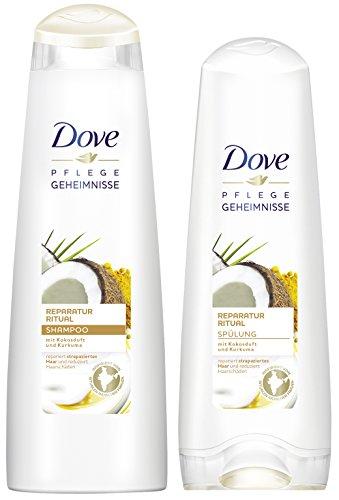 Dove Pflegeset Kokos mit Shampoo und Spülung