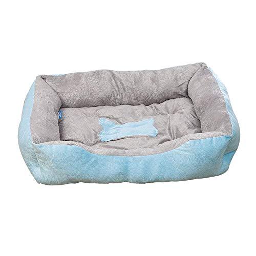 Fenteer Colchón de Cama Cálido de Felpa para Mascotas, para Perros, Gatos, Manta para Dormir, Cojín para Cama, para Casa, Nido, Manta para 3.3 Libras, 11 Libr - Azul 43x30CM