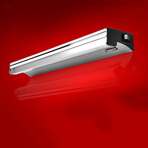 Lámpara Luz de espejo LED, baño minimalista moderno Lámpara de espejo baño Luz de maquillaje tubo fluorescente con interruptor Luces de baño (Color : White light)