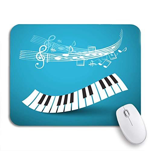 MIGAGA Gaming-Mauspad,Piano Keyboard Abstract Keys Wave Noten und Stab,Rutschfest Verschleißfestes Und Haltbares Gummi,Mousepad Für Bürocomputer,9.5