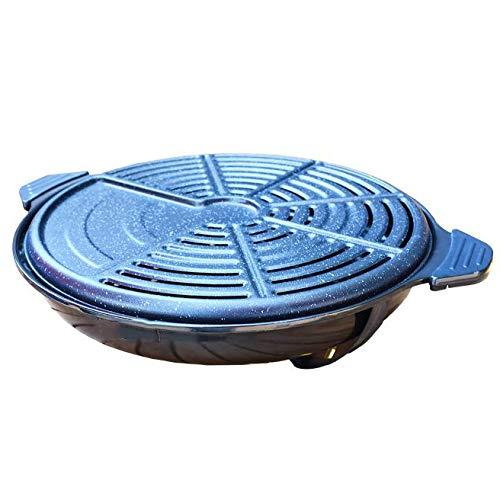 MISS&YG Korean BBQ-Grill, Tragbarer Holzkohlegrill, Medizinisches Material Stein Gleichmäßig Erhitzte, Beständig Ohne Verformung Zu Brennen, Leicht Zu Reinigen, Grillen Im Freien Camping,