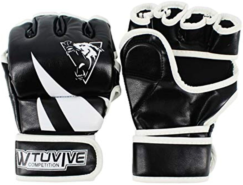 QJSTDM Beste Mixed Martial Arts Wettbewerb PVC Leder MMA Training Boxhandschuhe Straße Fightting Pk Handschuh Schutzkleidung B07Q9Z5YRV  Lassen Sie unsere Produkte in die Welt gehen