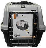 AIME Panier de Transport pour Chat/Chien, Dim.55 x 36 x 35 cm, Coloris Gris, Sécurité et Praticité