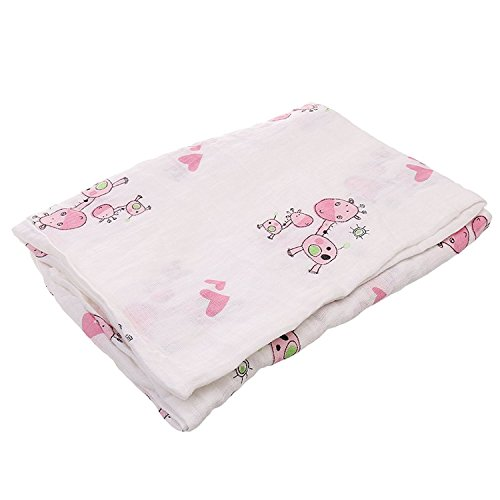 Little Sporter Baby mousseline Swaddle Couverture d'emmaillotage Couvertures nouveau-né couverture d'emmaillotage Poussette Serviette Couvertures bébé couverture en coton Couvertures de bain 1 pièce
