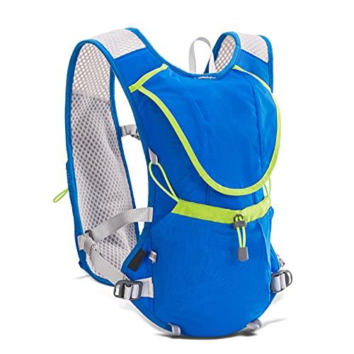 FLZXSQC Mochila para Trail Running, Ligera Y Transpirable, Mochila De 8 L, Bolsa De Agua para Botella De Agua para Ciclismo De Maratón, con Bolsa De Agua De 1,5 L, Adecuada para Trail Running,Azul
