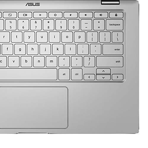 Product Image 1: ASUS Chromebook Flip C434 2-In-1 Laptop- 14″ Full HD 4-Way NanoEdge Touchscreen, Intel Core M3-8100Y Processor, 8GB RAM, 64GB eMMC Storage, Backlit KB, Chrome OS- C434TA-DS384T Silver