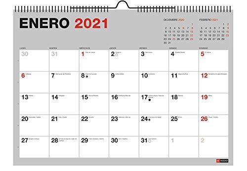 MIQUELRIUS - Calendario de pared 18 meses 2020 2021 - A3 420 x 296 mm con espacio para apuntar