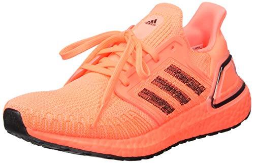 adidas Women's Ultraboost 20 W Running Shoe, Signal Coral/Core Black/FTWR White, 4 UK