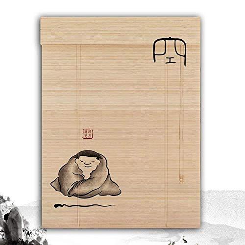 Yn-Bamboo Blind Tende s Rullo in bambù Tende a Rullo in bambù Tende a Rullo per Tende per Tende alla Veranda Tenda per Armadio a Balcone Larghezza 60/120/180cm Larghezza (Color : B, Size : 110X220CM)