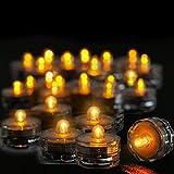 XinXinFeiEr Seguridad 12pcs / Set Impermeable con Pilas del té del LED Luces de Fiesta de Boda Creativo decoración de la Tabla de la decoración LED de luz de Velas sin Llama Real (Color : Yellow)