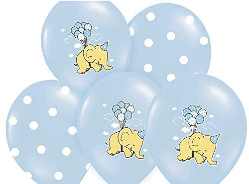 Libetui 10 Blaue Luftballons Motiv Elefant Deko Geburtstag Kinder Kindergeburtstag Party Kinder 30cm Elefant