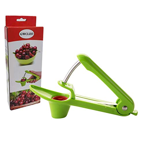 Cherry and Olive Pitter,GWCLEO Seed Remover with Stainless Rod and Food...