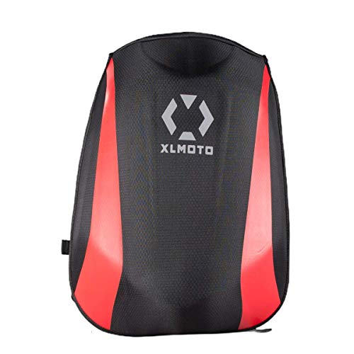 XLmoto Zaino Moto Slipstream Striped Resistente all'Acqua Rigido 24L (Rosso)
