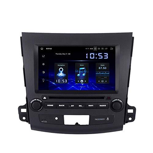 JALAL Estéreo de Coche Android 9.0 de 8'con navegación por satélite para Mitsubishi Outlander 2007 a 2011 Dab Radio de Coche Soporte Bluetooth GPS WiFi Carplay Mirror Link EQ de 15 Bandas 4G / 64G
