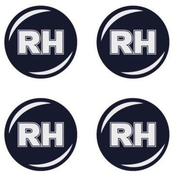 RH 4 Stück★ 60mm Aufkleber Emblem für Felgen Nabendeckel Radkappen