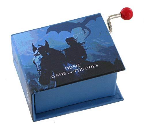 Caja de música / caja musical de manivela de cartón en forma de libro - Tema de Juegos de tronos (Game of Thrones)