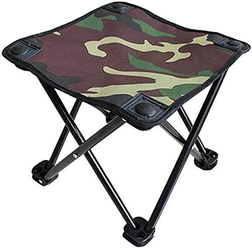 YYF Rugged draagbare opklapbare campingstoelen viskruk opklapbare kruk outdoor campingmeubilair, Groen