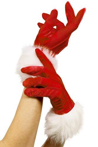 Smiffys Gants de Père Noël, Rouge