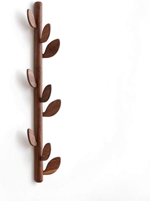DYR Coat Rack Coat Hanger in Solid Wood Leaf Coat Hanger Coat Hanger 85  20 cm Stable and Resistant (color  A)