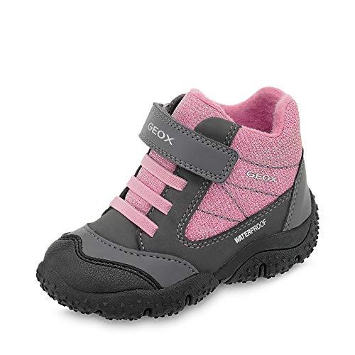 Geox Baby-Girl's Baltic Waterproof Ankle Shoe/Elast STRP, Green/Pink, First Walker, 25 M EU Toddler (8.5 US)