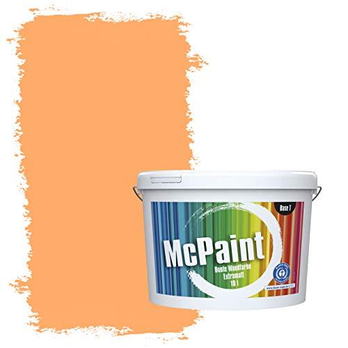 McPaint Bunte Wandfarbe extramatt für Innen Mandarine - 2,5 Liter - Weitere Gelbe Farbtöne Erhältlich - Weitere Größen Verfügbar