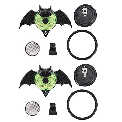 Voluxe Lámpara Decorativa para Scooter de Equilibrio, tenacidad, 2 Piezas de luz de decoración de Bicicleta, lámpara Blanca de ABS de 30 g, Ciclismo para(Bat Green)