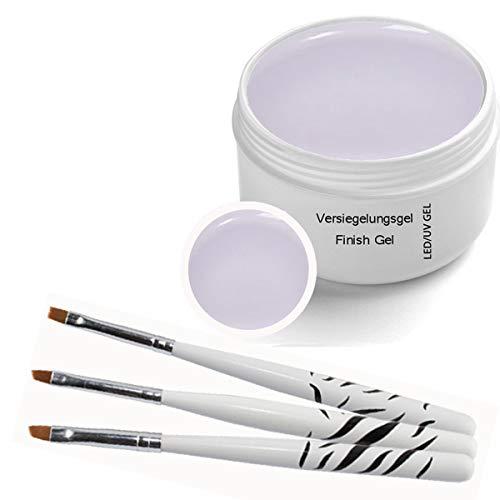 Gel classique Finition UV transparente 30 ml - y compris 3pcs. Brosse à ongles
