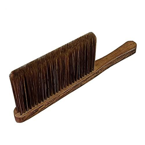Cepillo para sofá con mango de madera Cepillo para ropa con cerdas naturales para zapatos de cuero, ropa, zapatos, bolsos, carteras, camas, sombreros de fieltro, sofás, muebles, alfombras y ve