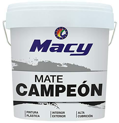 Pintura Plástica Mate Campeón Macy, color Blanco, rendimiento y blancura, interiror y exterior (5)
