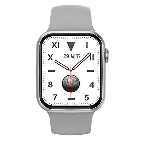 Bluetooth Call Smart Watch Men 1.75 Pulgadas HD Pantalla Completa Dial Dinámico Smartwatch Smartwatch para Hombres Monitor De Frecuencia Cardíaca, Contador De Pasos, Fitness Impermeable(Color:Plata)