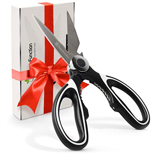 Kitchen Scissors & Razor Sharp Heavy Duty Kitchen Shears - Best For Easy Cutting Of Food, Poultry & Meat - Multipurpose & Dishwasher Safe