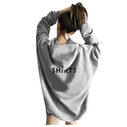 FRAUIT dames meisjes lange hoodie losse sweatshirt-pullover blouse herfst winter mode vrouwen maildruk lange mouwen shirt met capuchon elegante streetwear warm