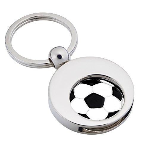 Schlüsselanhänger 'Goal' mit Einakufswagenchip Fussball von Jadani
