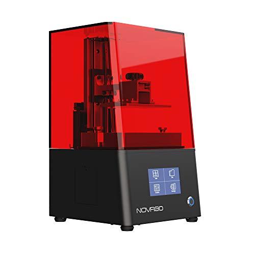NOVA3D BENE4 MONO Stampante 3D più veloce con schermo monocromico, design predefinito 130 x 80 x 150 mm, stampante MSLA Resin stampa WLAN/offline