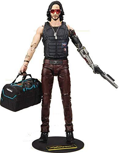 McFarlane 13504-6 Toys-Johnny Silverhand Variant-Cyberpunk 2077-18cm Figura de acción, Color Negro