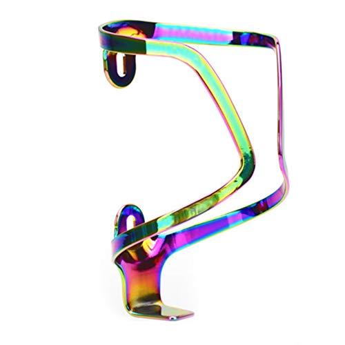 Rousa Jaula para botella de agua, ligero portabotellas para bicicleta, soporte de acero inoxidable, soporte para hervidor de agua (colorido) (Multi 1)