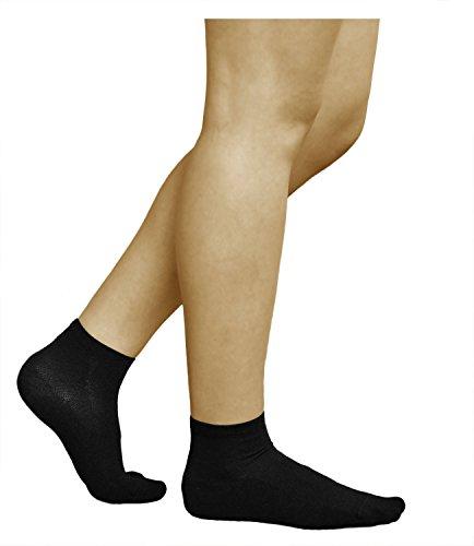 vitsocks 3 Paar antibakterielle Damen Socken mit SILBER, Atmungsaktive Klimazone, Health (35-38, Schwarz)
