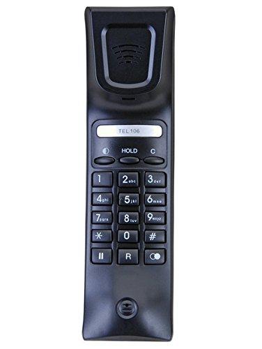 AUDIOLINE Tel 106 schnurgebunden analog inkl. Display Einhandtelefon Nummernfeld im Hörer Anruf-LED Wandmontage möglich