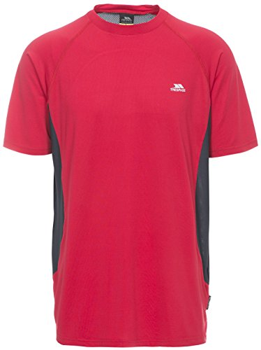 Trespass Reptia T-Shirt Homme, Rouge, FR : S (Taille Fabricant : S)