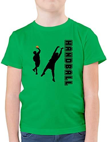 Sport Kind - Handball Wurf Verteidigung - 128 (7/8 Jahre) - Grün - Handball Torwart Kinder - F130K - Kinder Tshirts und T-Shirt für Jungen