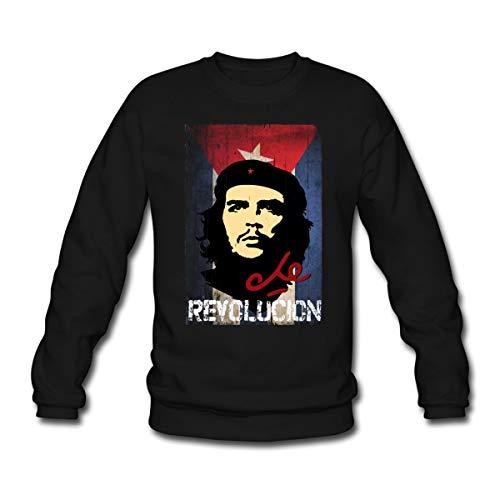 Spreadshirt Che Guevara Revolución Kubanische Flagge Fahne Unisex Pullover, XL, Schwarz
