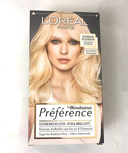L'Oréal Paris Préférence Infinia Coloration Extreme Platinum, 1 St (1er Pack)