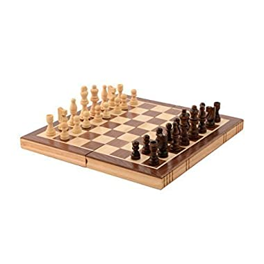 Kangaroo Folding Wooden Chess Set With Magnet Closure