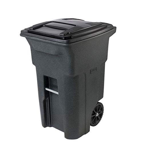 Toter 64 Gal. Trash Can Greenstone with Wheels and Lid
