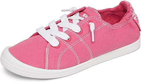 Roxy Women's Bayshore Slip on Shoe Sneaker, HOT Pink 202, 10 M US