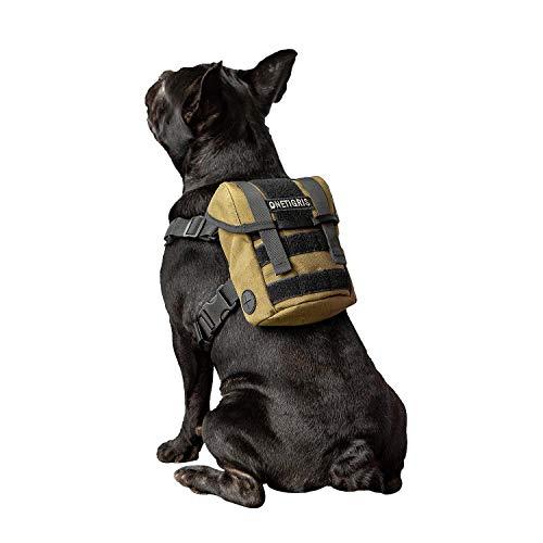 OneTigris Eureka K9 Hunderucksack, Kleiner Hundebackpack mit Kotbeutelspender zum täglichen Wandern für kleine Hunde (Ranger Grün)