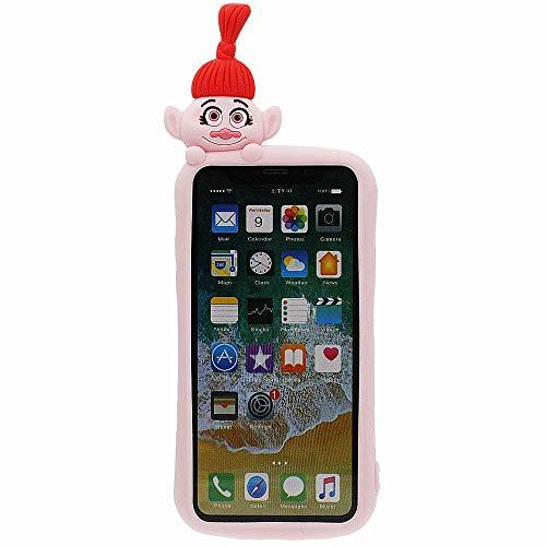 Diseñado para iPhone XR Funda de Silicona, Case para Niña Mujer Rosa Dibujos Animados Estilo Carcasa Protectora Suave Elástico Absorción de Impacto Antigolpes iPhone XR Case 6.1 Pulgadas
